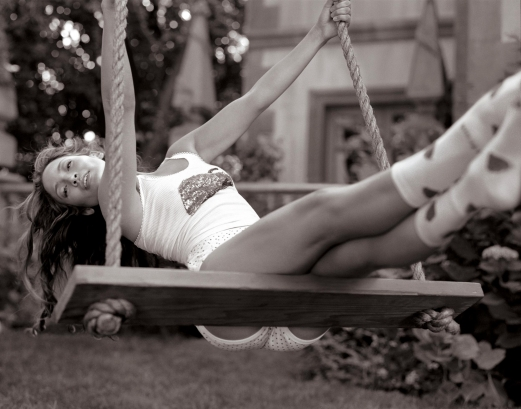 swings, black and white, girl, legs, rope