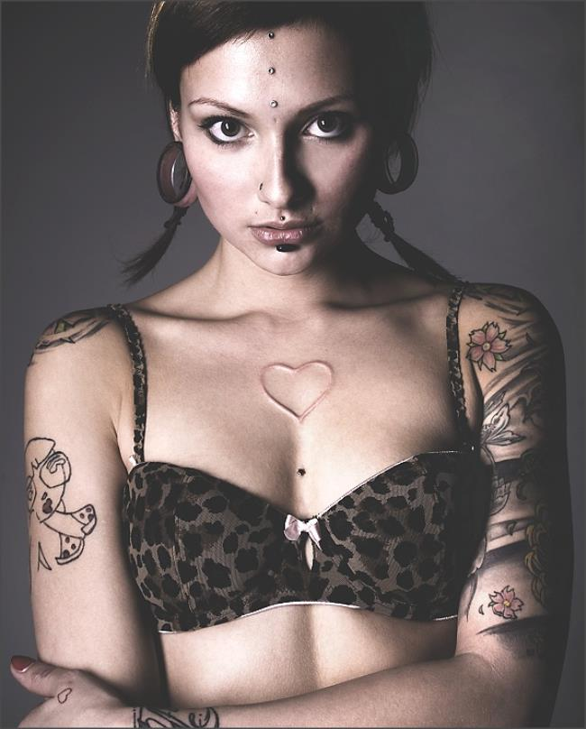 tattoo, girl, cute, fashion, photography