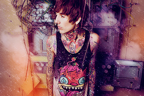 tattoo, oliver sykes, bmth, cute, fashion