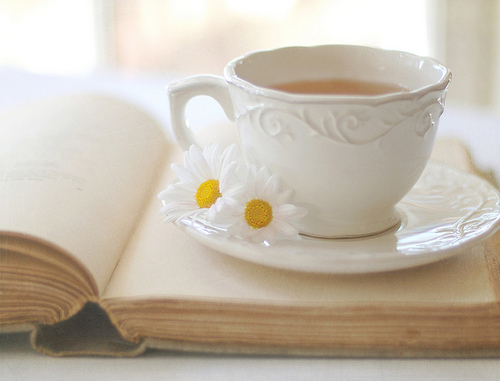 tea, cup, china, flower, yellow