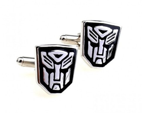 transformers enamel cufflinks