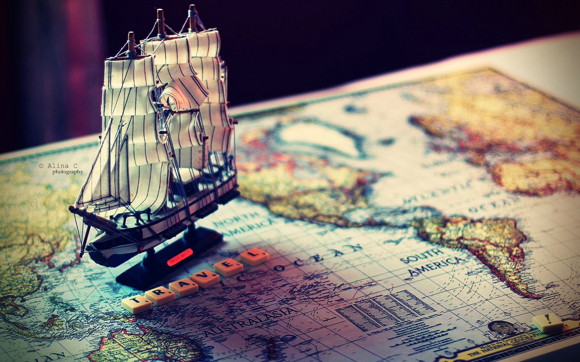 travel, romance, map, sailing