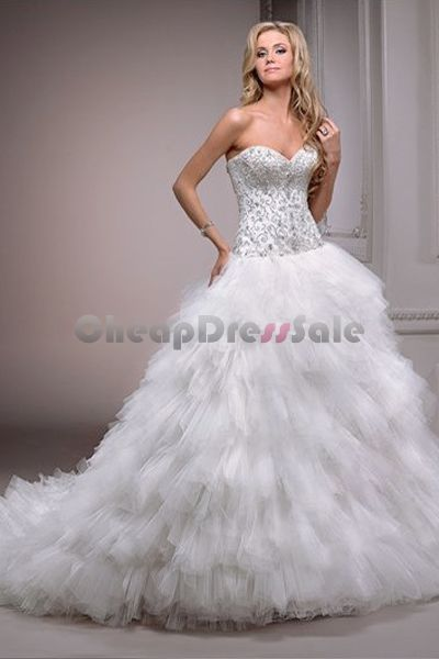 tulle strapless sweetheart neckline ball gown