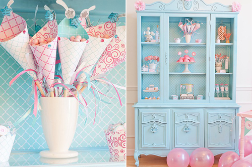 candy, pink, turquoise