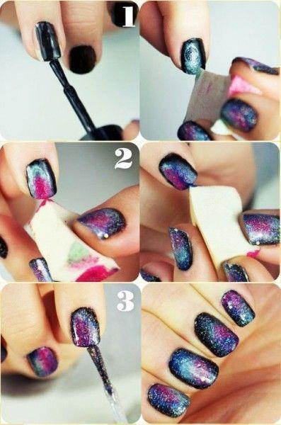tutorial nails cool, girls  summer
