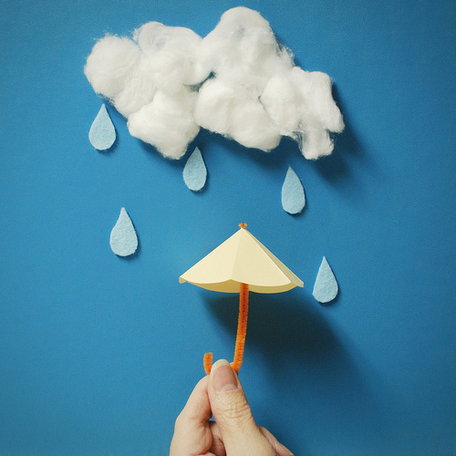 umbrella, cloud, teardrop, rainfal