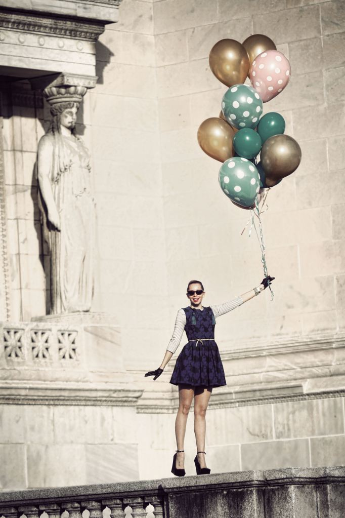 vintage, balloons, cute, fashion, photography