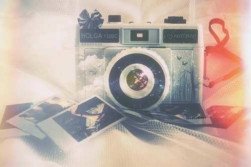 vintage, camera, faded, dreamy, pastel