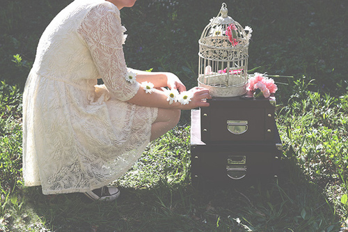 vintage, lace, girl, tumblr, birdcage