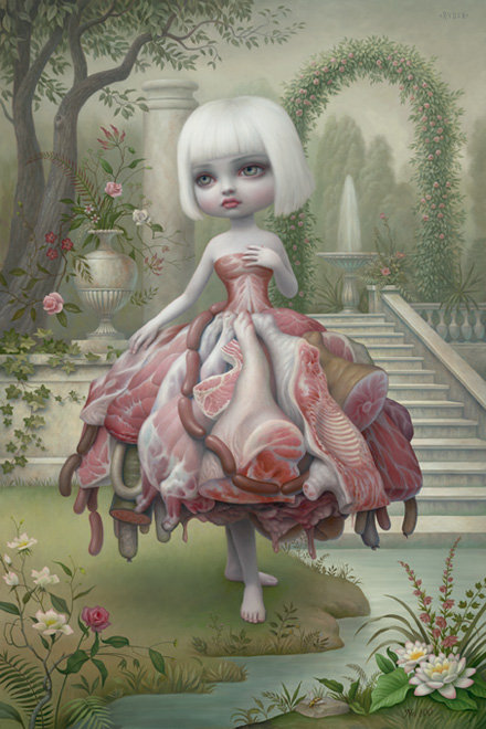 art, girl, lowbrow, mark ryden, meat, painting, pop surrealism, the meat show, visual art