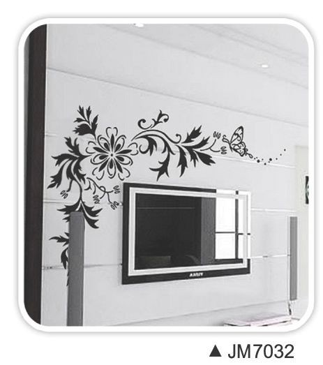 wall sticker, wall decal, flower wall sticker, design, interior design