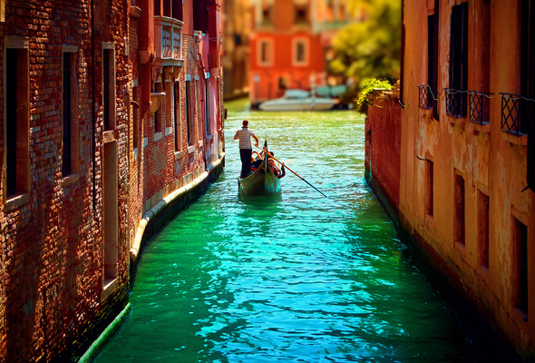 canal, italy, venice, water