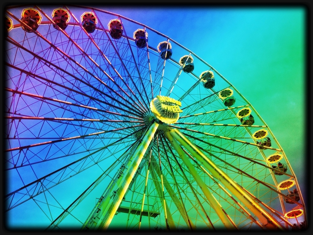 wheel, colour, funny, cool, beautiful