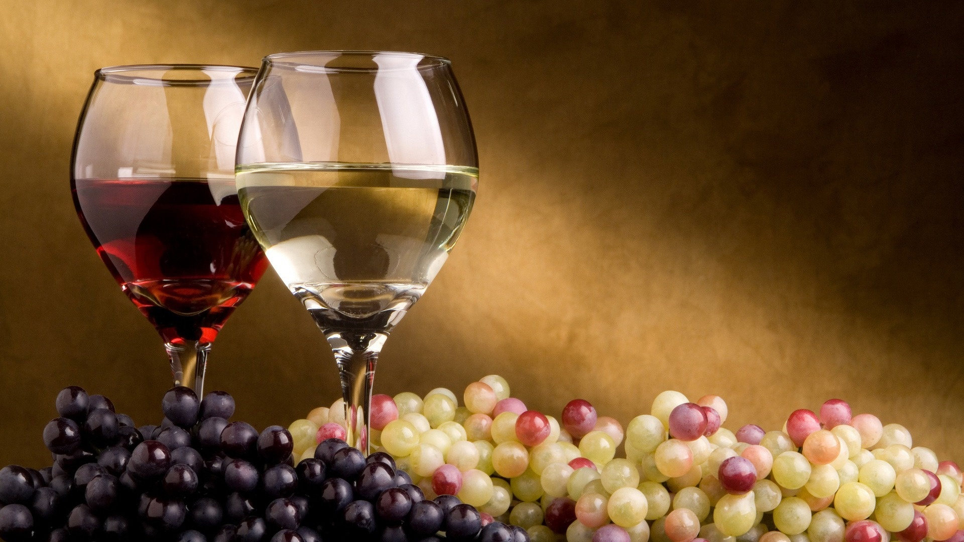 wine, glasses, grapes