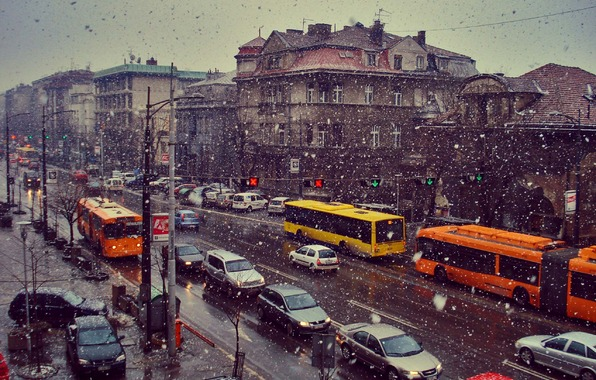 winter, city