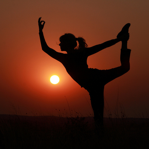 girl, lighting, photography, sunset, yoga