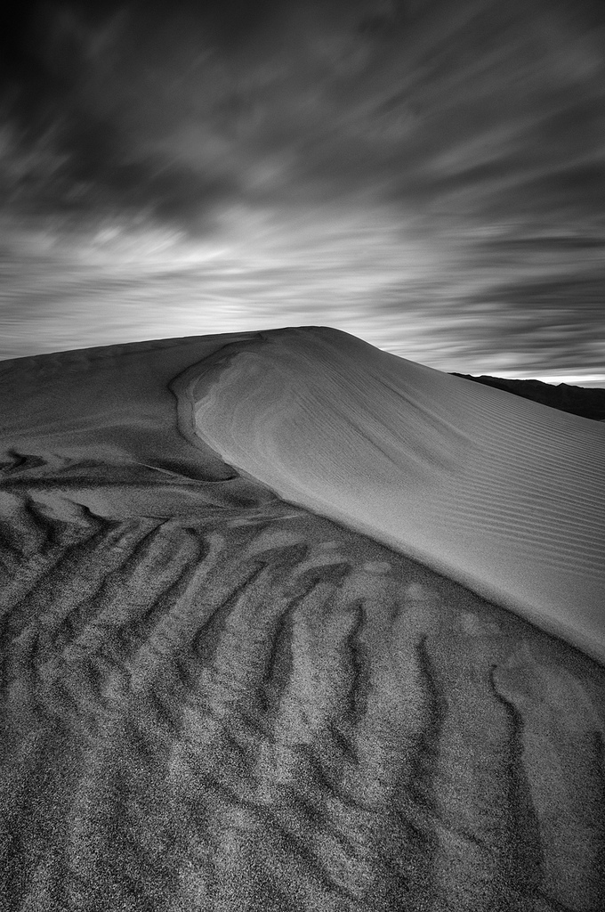 black and white, California, clouds, Death Valley National Park