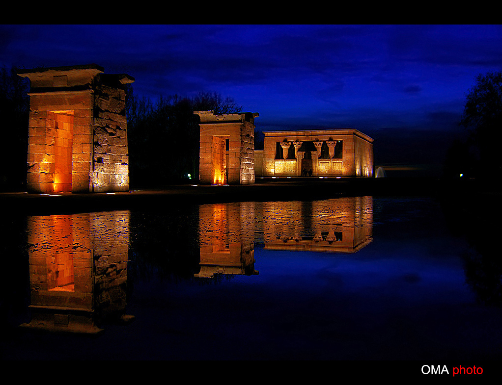 BLUE HOUR, DEBOD, EGYPTIAN, TEMPLE