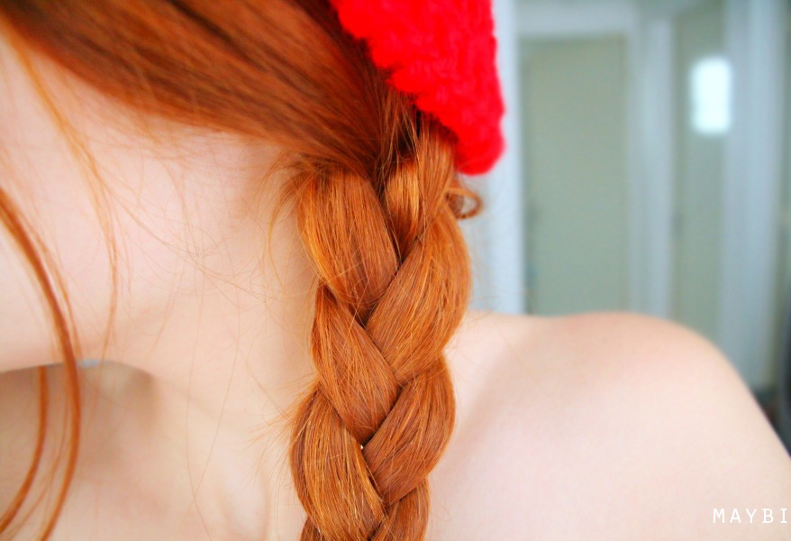 braid, redhead, ginger, hair