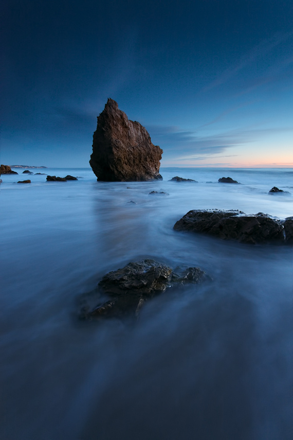 El Matador, beach, sea stack, twilight
