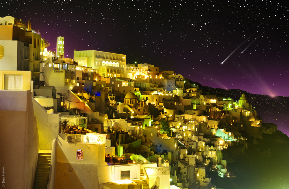 aegean sea, air, architecture, art, artistry, arts, astronomy, ben heine, ciel, city, colorful, colors, comet, conceptual, copyrights, cosmos, creative composition, digital technology, dof, ecosystem, energy, étoiles, exposure, fira, freedom, greece