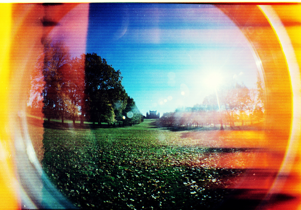 fish eye lomo, film, expired film, nottingham