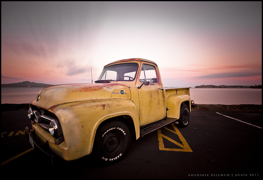 10 stop filter, 16-35mm, 365, 365 project, auckland, b w nd110, beach, car, clouds, d700, dan, danilo, danilodijamco, danskie, dark, dawn, dusck, dusk, explore, explore ford, explore ford f100, explored, explre, expose, exposure, f100, flickr:, ford