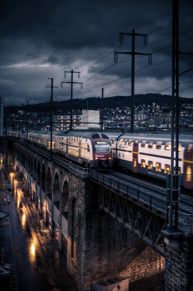 HDR, train, railway, rail