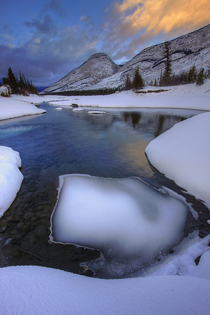 Jasper, Jasper National Park, mountains, winter
