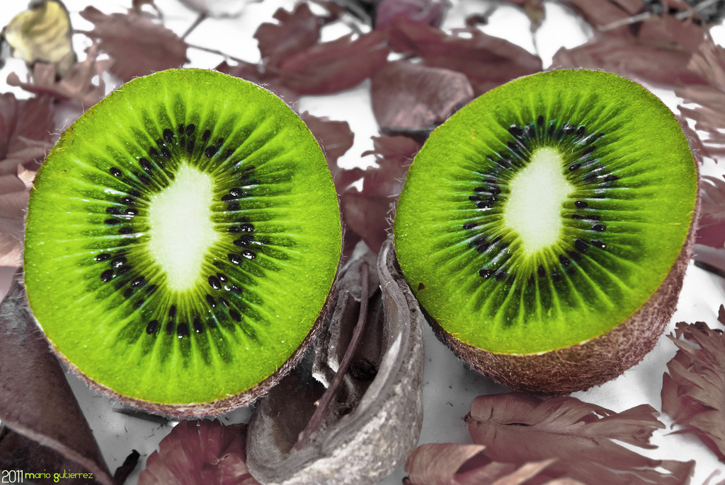 kiwi, fruit, macro, close-up