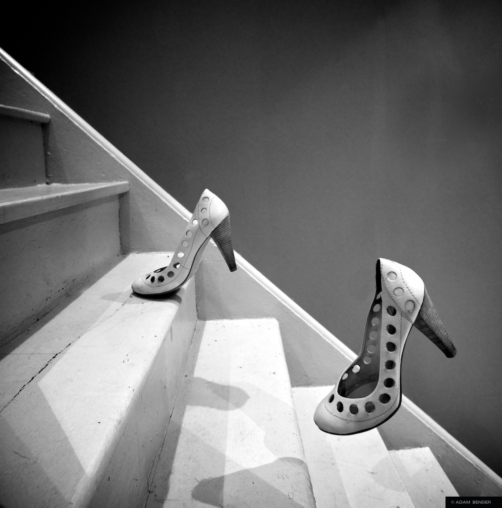 levitation, shoes, stairs, adam