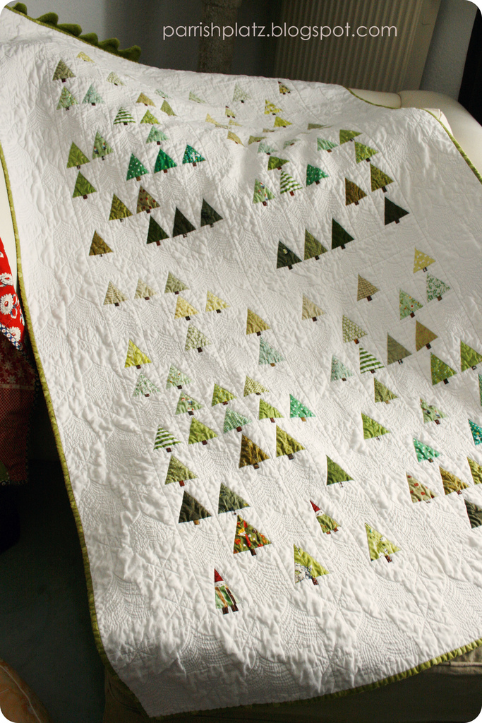 little Forest quilt, purl bee, tree quilt, gnomes