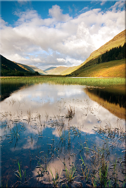Loch Leitreach, Scotland, landscape, reflection