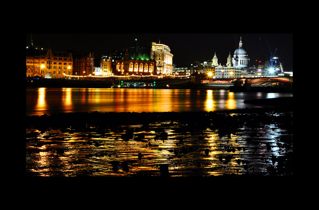 London, Low, Tide, Nikon