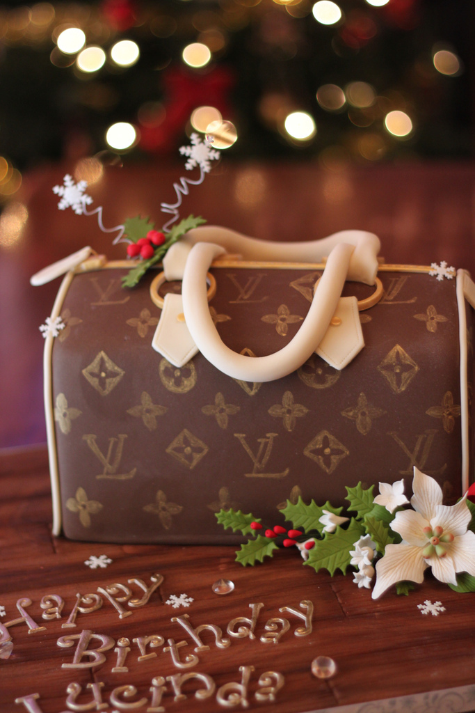 Louis Vuitton, purse, hand bag, poinsettia