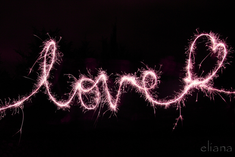love, amor, liebe, light painting