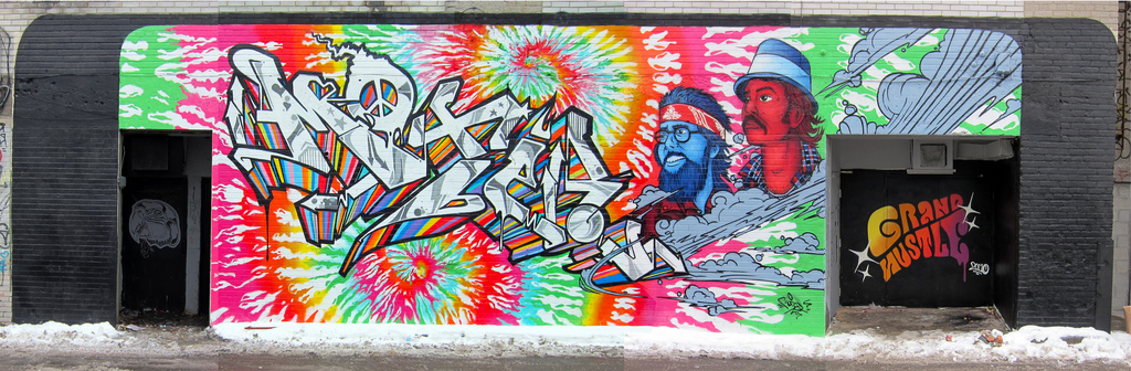 burner, cheech and chong, gh crew, graffiti, hippy, motel, production, psycadelic, street art, tie dye, urban art