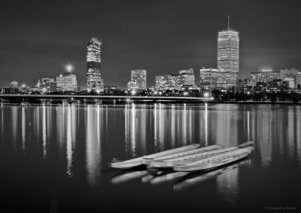 bijoyketan, boats, boston, canon 15-85mm is usm, charles, cityscape, ketan, long exposure, night, river, winter