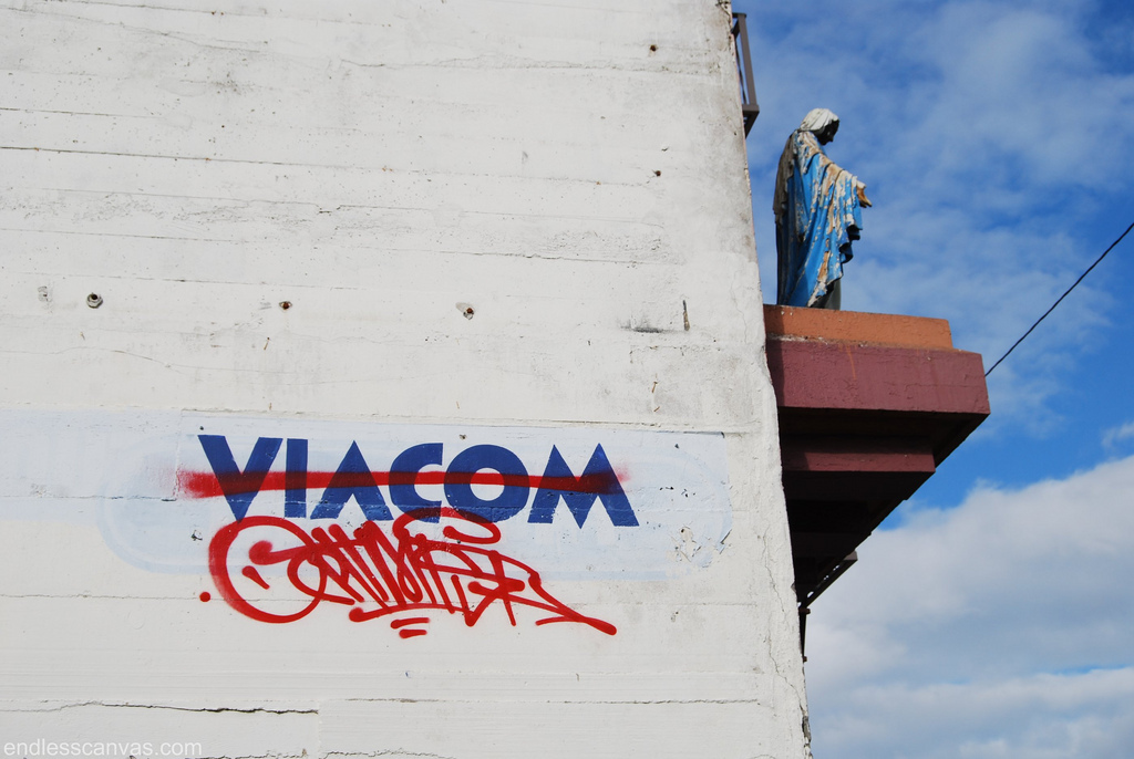 Optimist Graffiti, Viacom, Virgin Mary, Holy War