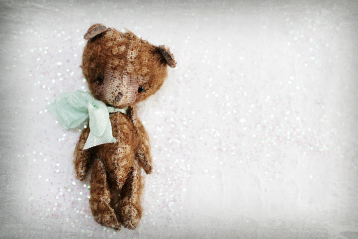 Petite Wanderlings, vintage, teddy bear, handmade