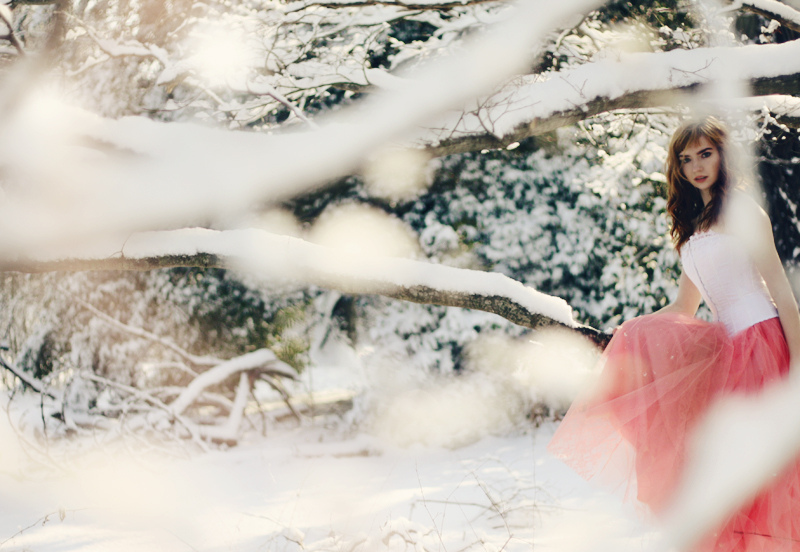 pink dress, fairytale, 365, winter
