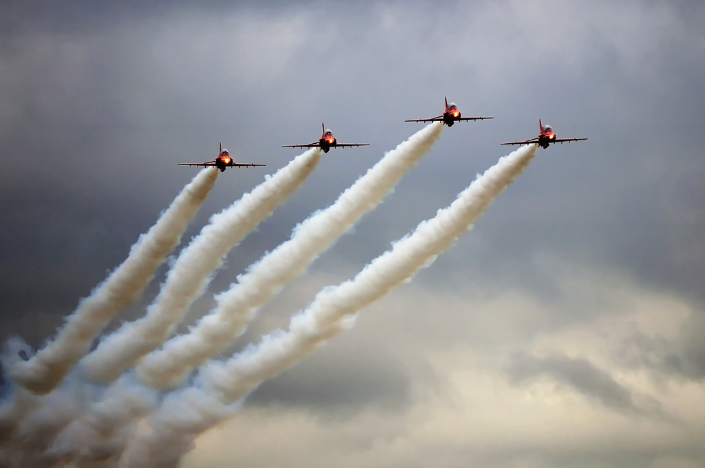 RAF, Red Arrows, Aerobatics, Scampton
