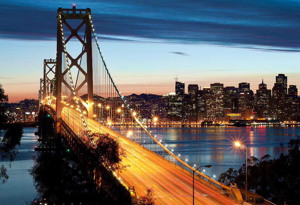 San Francisco, Bay Bridge, City Lights, Love