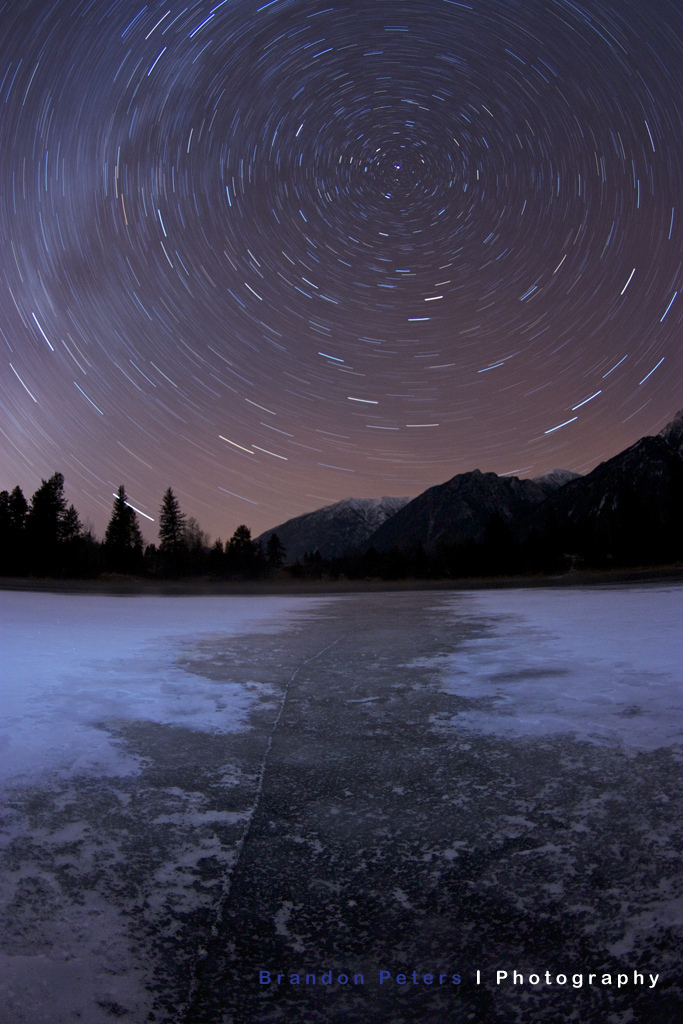 Stars, Lake, Frozen, Ice