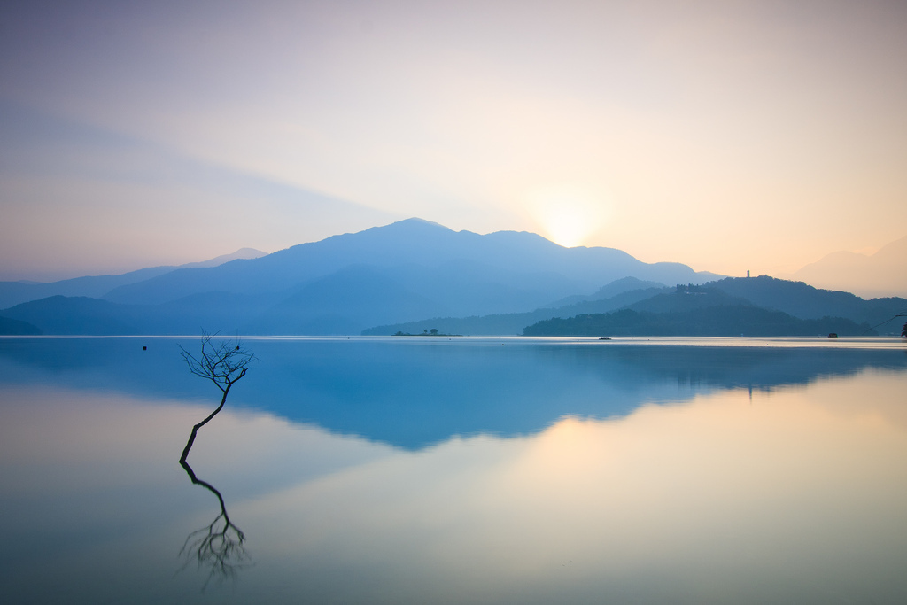 sun moon lake, taiwan, nantou, sunrise