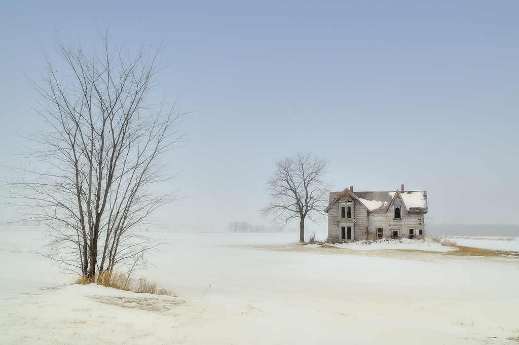 talbot trail, abandoned house, cold, winter