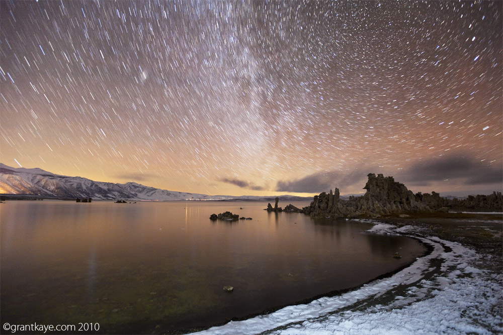 Tufa, Star Trails, Milky Way, Mono Lake