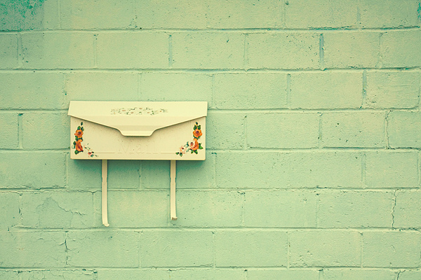 vintage mailbox, mail, letters, words