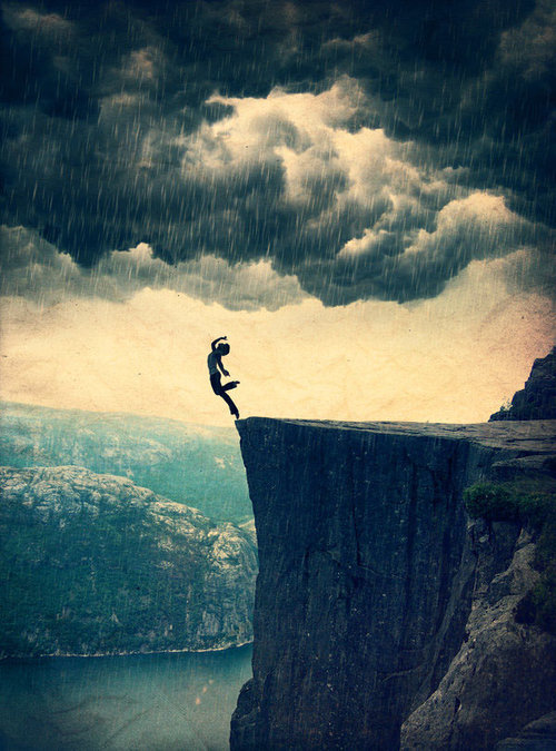 *-*, abgrund, awesome, beautiful, blue, cliff, cliff jumping, fall, feel, free, freedom, girl, graceful, jump, mountain, passion, photography, rain, sad, sadness, sea, storm, wow