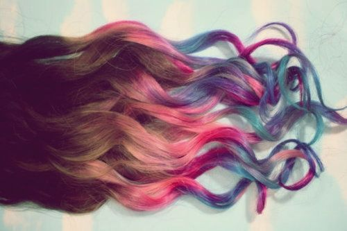 :), amazing, awesome, colors, hair, heart it, like it, love it, rainbow, wow